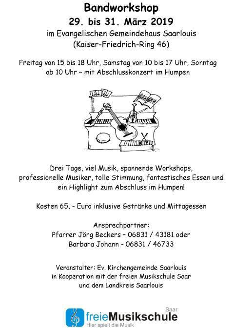Band-Workshop Flyer Gemeinsam Musizieren